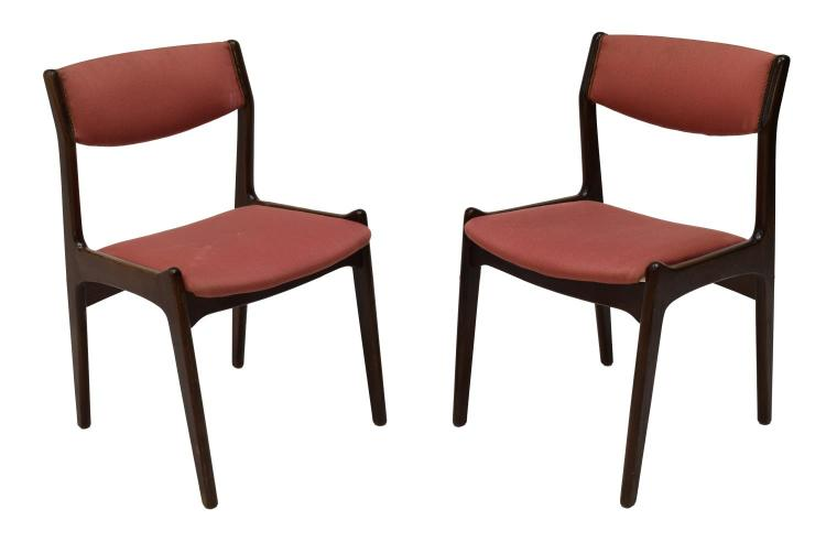 6 Danish Mid Century Modern Rosewood Side Chairs