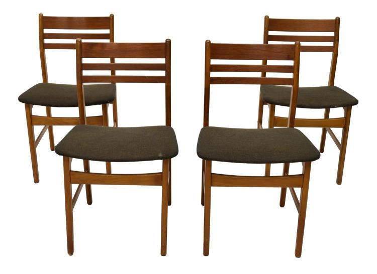 4 Danish Mid Century Modern Dining Chairs