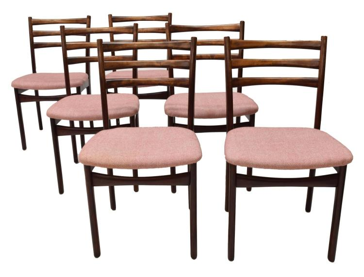 6 Danish Modern Rosewood Side Chairs