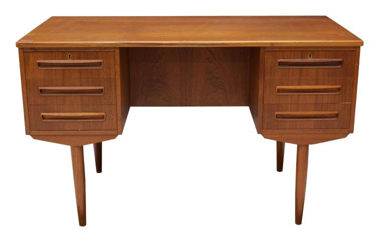 Danish Mid Century Modern Teakwood Writing Desk