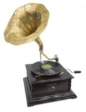 'HIS MASTERS VOICE' GRAMOHONE, MORNING GLORY HORN