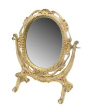 LOUIS XV STYLE PAINTED STANDING TABLE MIRROR