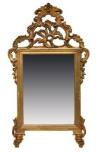LOUIS XV STYLE GILT FRAMED MIRROR
