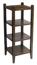 AMERICAN ARTS & CRAFTS OAK SQUARE TIERED SHELF