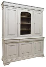 ITALIAN PAINTED BOOKCASE WITH GLAZED DOOR