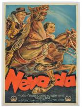 UNFRAMED VINTAGE 'NEVADA' MOVIE POSTER, IN GERMAN