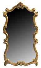 LARGE LOUIS XV STYLE GILTWOOD WALL MIRROR