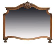 ITALIAN SHELL CARVED BEVELED WALL MIRROR
