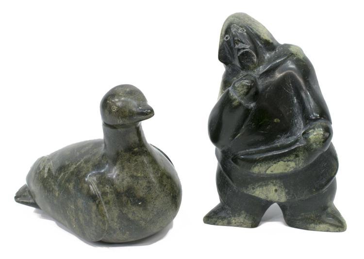 Candian eskimo art inuit stone carvings