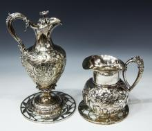 (4) ELKINGTON, MASON & CO. SILVERPLATE CLARET JUG