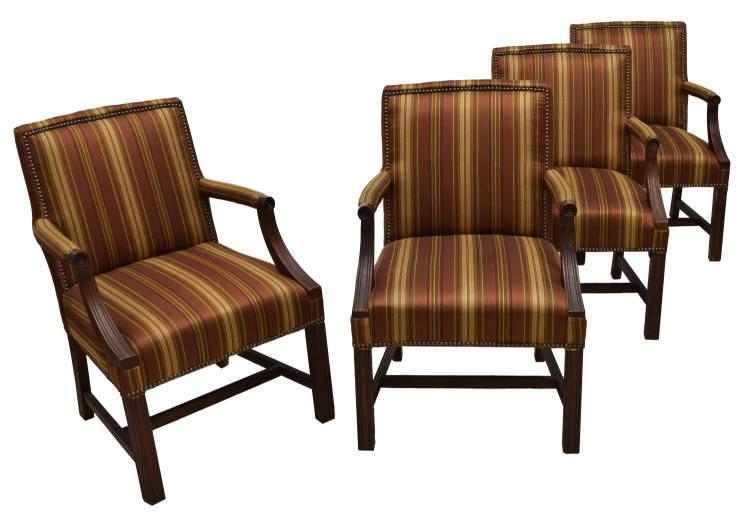 4 fairfield federal style arm chairs for Furniture federal way