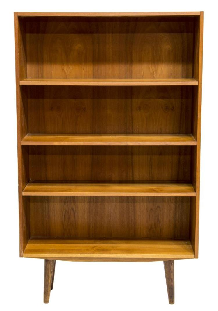 danish mid century modern teakwood bookcase. Black Bedroom Furniture Sets. Home Design Ideas
