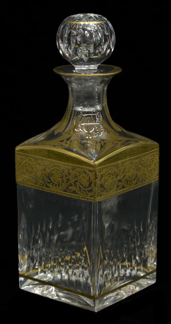 saint louis 39 thistle 39 crystal decanter stopper. Black Bedroom Furniture Sets. Home Design Ideas