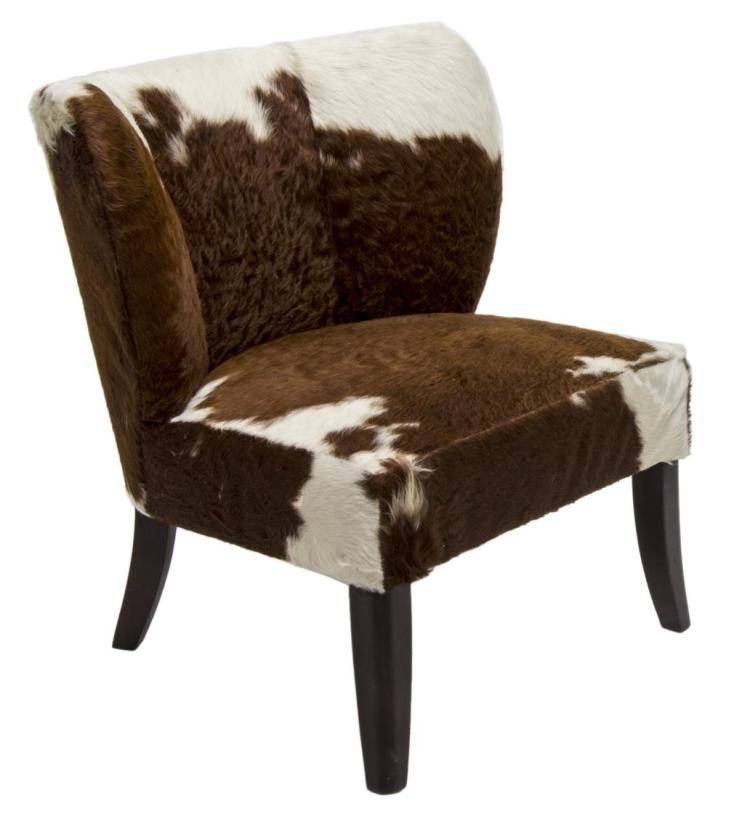 Marvelous Modern Brown White Cowhide Chair Squirreltailoven Fun Painted Chair Ideas Images Squirreltailovenorg