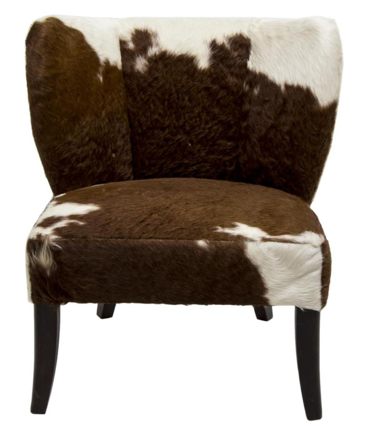 Astounding Modern Brown White Cowhide Chair Squirreltailoven Fun Painted Chair Ideas Images Squirreltailovenorg