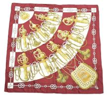 HERMES 'CLIQUETIS' SILK TWILL SCARF