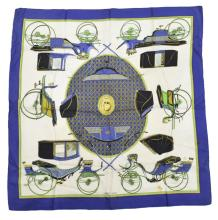 HERMES 'LES VOITURES A TRANSFORMATION' SCARF