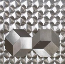 SILVER FOIL OP-ART IN THE STYLE OF PATRICK DUPRE