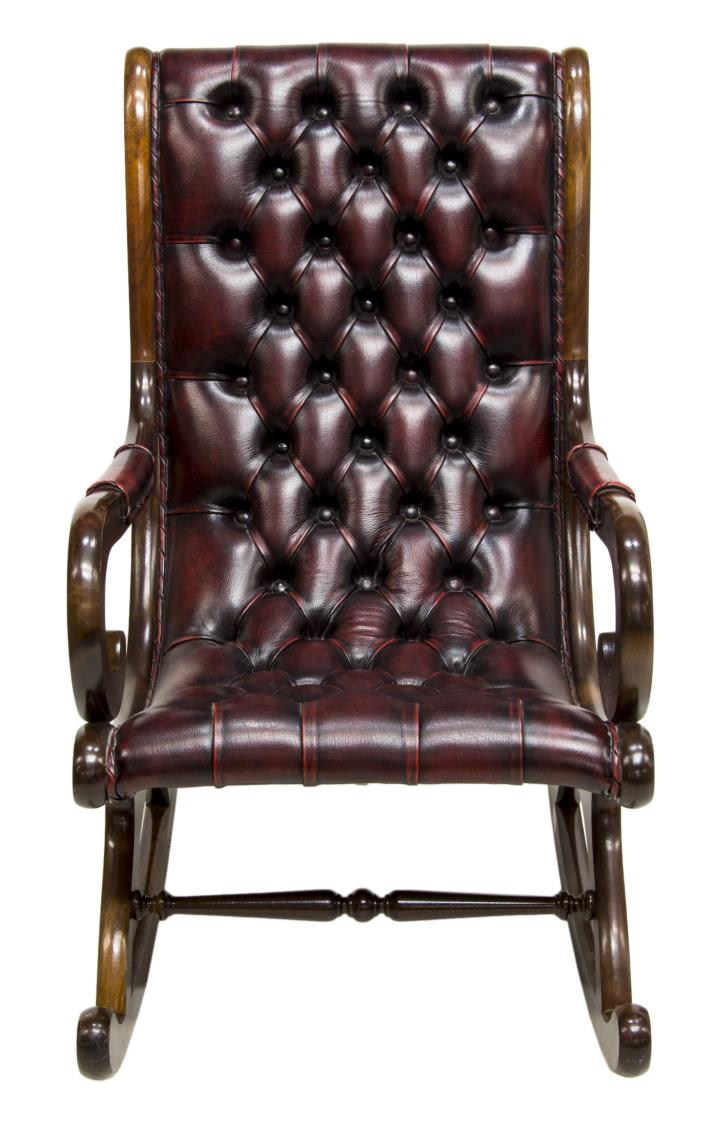 english chesterfield tufted oxblood rocking chair. Black Bedroom Furniture Sets. Home Design Ideas