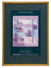MICHAEL GRAVES (1934-2015) SIGNED GALLERY POSTER