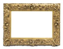 LOUIS XV HEAVILY CARVED GILTWOOD PICTURE FRAME