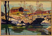 ARMAS MIKOLA (FINLAND 1901-1983) RIVER PAINTING
