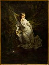 HENRY PICOU (1824-1895), OPHELIA OIL PAINTING