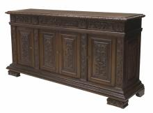 ANTIQUE ITALIAN FOLIATE CARVED SIDEBOARD SERVER