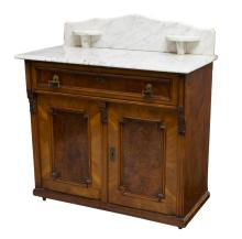 VICTORIAN MARBLE TOP WASH STAND LATE 19TH CENTURY