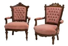 (2) AMERICAN RESNAISSANCE REVIVAL PARLOR CHAIRS