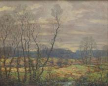 BENSON BOND MOORE (1882-1974) FRAMED OIL PAINTING
