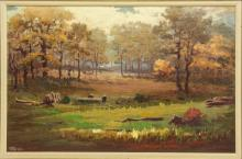 CLARENCE A. LUKINGBEAL (OHIO, D.1980) OIL PAINTING