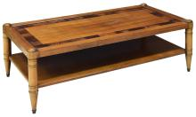 FRENCH WOOD TWO-TIER RECTANGULAR COFFEE TABLE