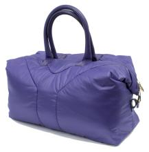 YVES SAINT LAURENT 'EASY' PURPLE NYLON HANDBAG