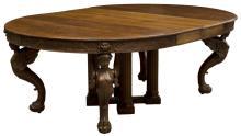 R.J. HORNER & CO. OAK CIRCULAR DINING TABLE