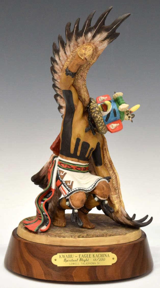 Hopi Kachina 12 Quot H Lowel Talashoma Sr Glass Cased
