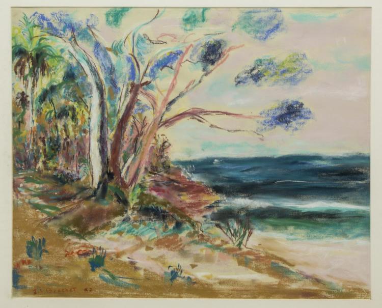 JEAN-LOUIS BRACHET (1938-2010) PASTEL ON PAPER