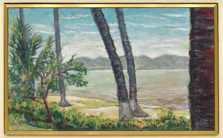 FELIPE GARDEL (MEXICO, B.1935) FRAMED OIL PAINTING