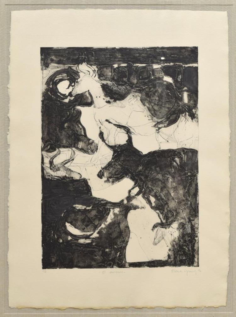 ELENA GOMEZ (MEXICO, B.1964) FRAMED DRYPOINT PRINT