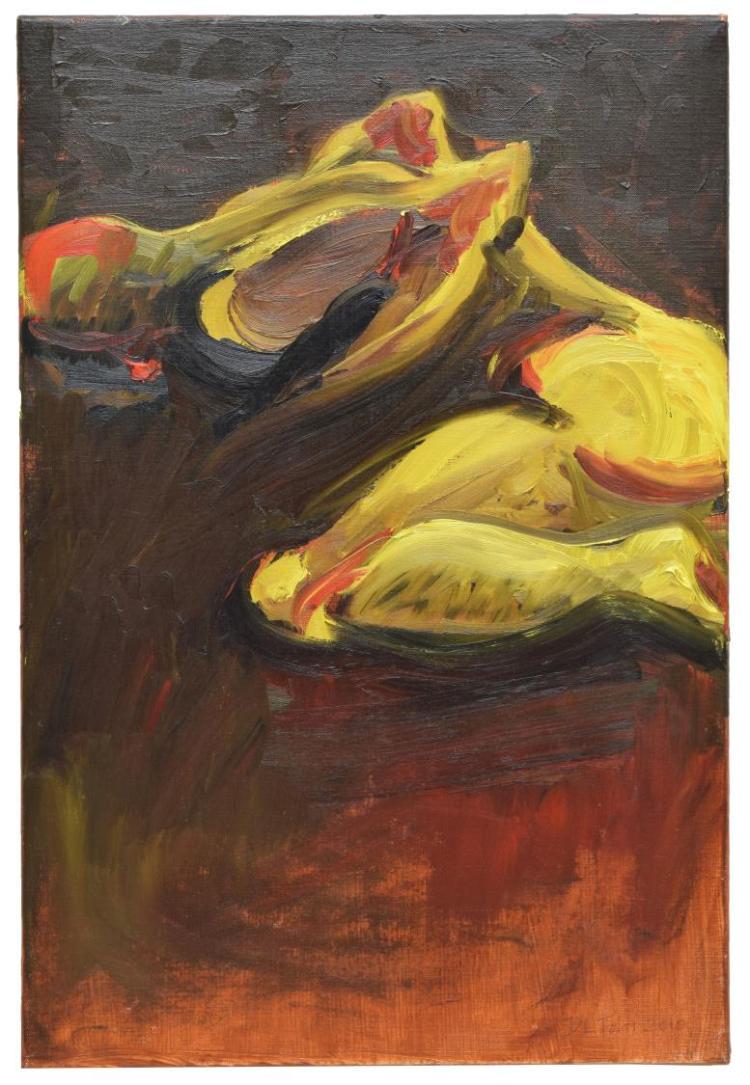 DL TOLAR (DONNA SCHULTZ, B.1966) OIL PAINTING