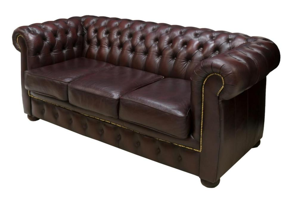 chesterfield style buttoned ox blood sofa. Black Bedroom Furniture Sets. Home Design Ideas