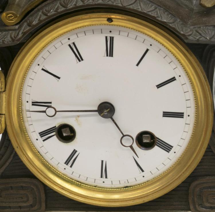 3 Japy Freres Figural Mantle Clock Amp Garniture