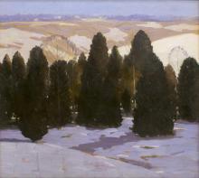 LAWRENCE McCONAHA (1894-1962), WINTER LANDSCAPE