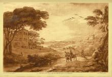 (2) AFTER CLAUDE LORRAIN SCENIC PRINTS, FRAMED