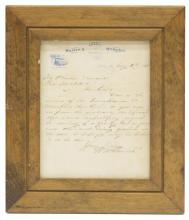 1869 HANDWRITTEN LETTER NATHAN BEDFORD FORREST CSA