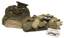 (LOT) WWII U.S. IDENTIFIED ARMY UNIFORMS, RIBBONS
