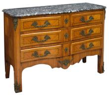FRENCH REGENCY STYLE INLAID KINGWOOD COMMODE