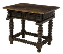 FRENCH OAK WORK TABLE, 18TH C.