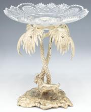 ORIENTALIST SILVER PLATE EPERGNE