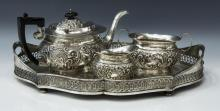 (4) ENGLISH STERLING & SILVER ASSEMBLED TEA SET